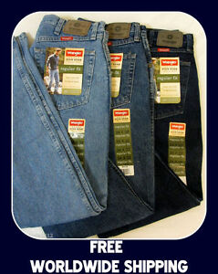 Mens-Wrangler-5-Star-Denim-Jeans-Regular-Relaxed-Carpenter-Fit-UP-TO-48WAIST