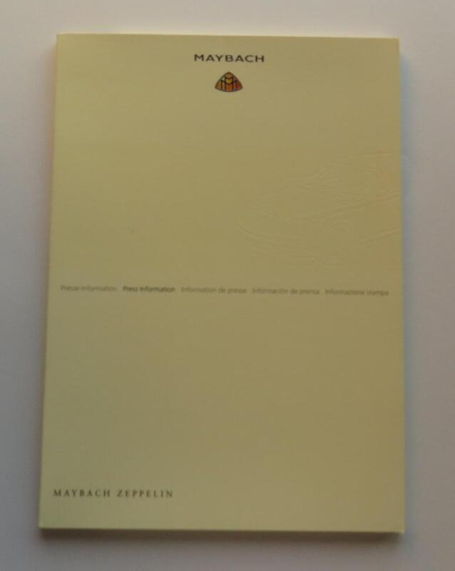 2009 Maybach Zeppelin Press Information Kit Brochure Vintage Original