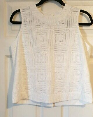 IRIS & INK Eleanor broderie anglaise cotton top