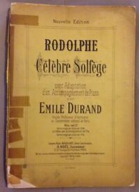 Piano sheet music. Rodolphe – Celebre Solfege, Emile Durand. Published 1902