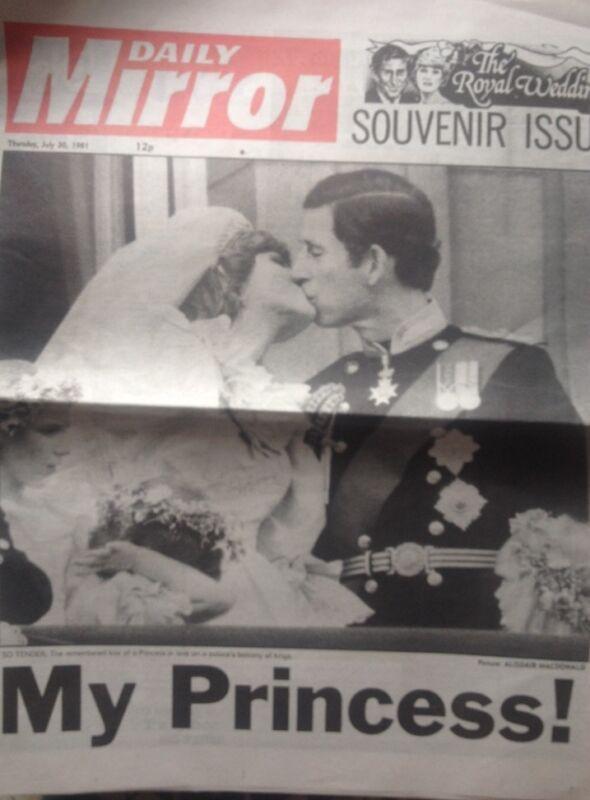 My Princess! Rare Royal Wedding Newspaper 1981 Diana Charles Wedding