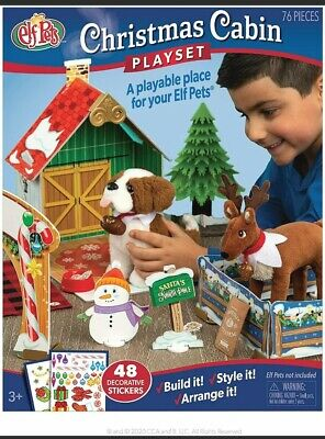 The Elf on the Shelf - 76 pc Elf Pets Christmas Cabin Playset NEW
