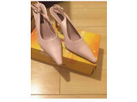 Shoes sling back pink size 7