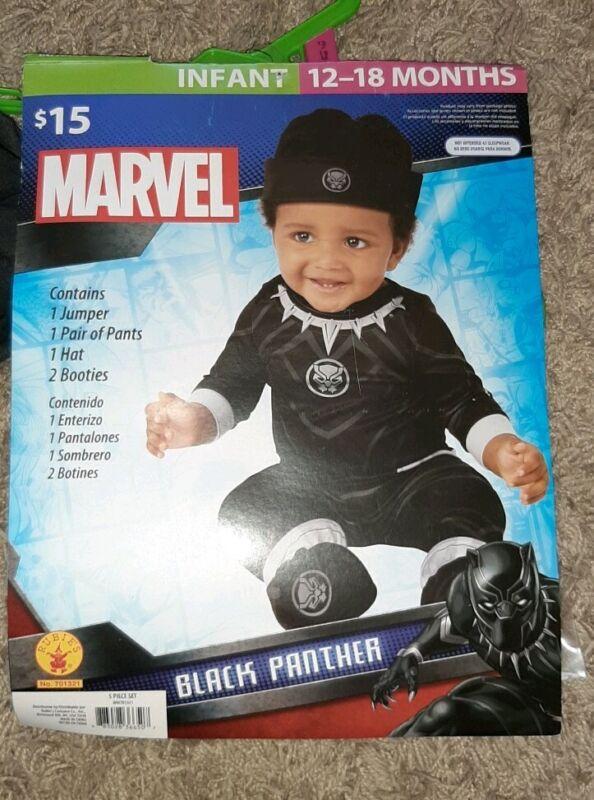 Marvel Infant 12-18 Month Black Panther Costume Dress Up