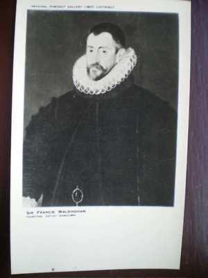 POSTCARD SOCIAL HISTORY SIR FRANCIS WALSINGHAM