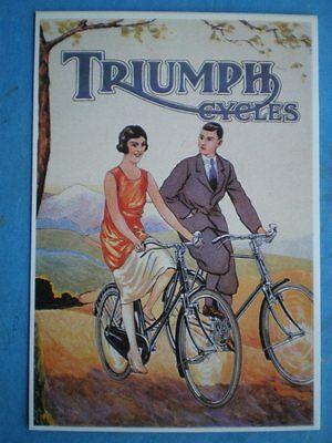 POSTCARD  TRIUMPH CYCLES