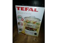 Tefal 3 tier steam cuisine boxed and unused