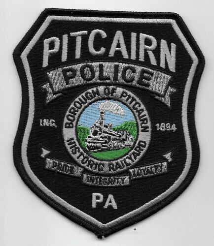 Pitcairn Police State Pennsylvania PA Train Railyard patch NEAT