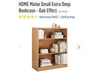 Argos Deep bookcase / book shelves (oak) - must go ASAP