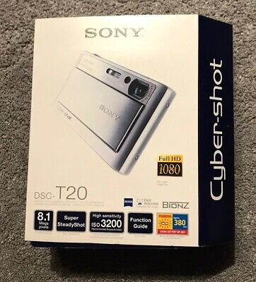 Sony Cyber-shot DSC-T20 All Metal Slider Case 8MP Zeiss Tessar 3x Digital Camera for sale  Shipping to Nigeria