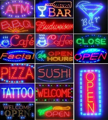 Animated Motion Led Restaurant Club Pizza Sign Onoff Switch Open Light Neon Mx