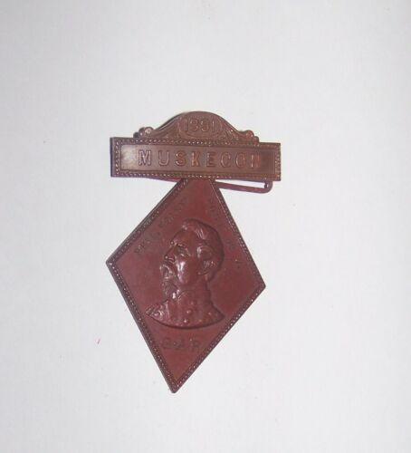 1891 ANTIQUE CIVIL WAR PHIL KEARNEY GAR MEDAL BADGE MUSKEGON MICHIGAN
