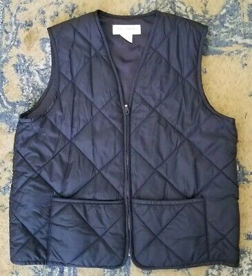 Jones New York M Black Quilted Vest Classic Fit Two Front Pockets