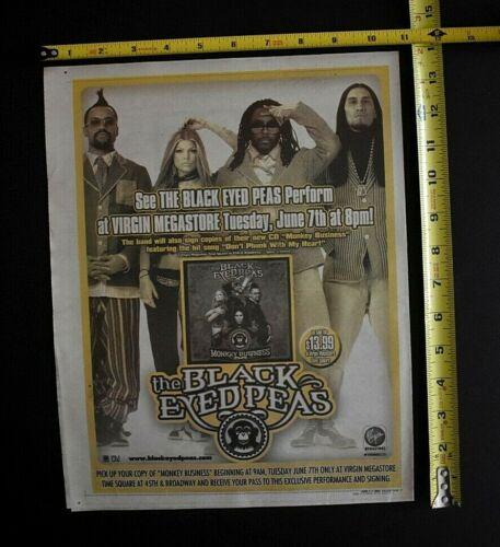 The Black Eyed Peas 2005 Concert / Album Ad Virgin Megastore NYC Monkey Business