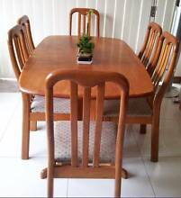 Stained Timber 7 Piece Dining Set Kogarah Rockdale Area Preview