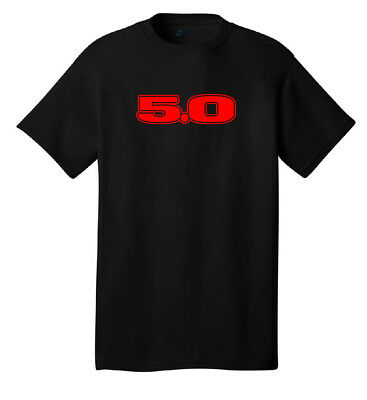 5.0 mustang t-shirt ford foxbody gt notchback 302 street racing drag muscle cars