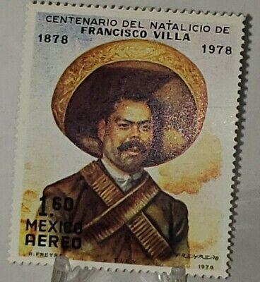 CENTENARIO DEL NATALICIO  FRANCISCO VILLA 1878 -1978 MAIL STAMP NICE!!!