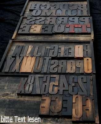 RIESIGE HOLZLETTER 25 cm Holzbuchstabe Lettern Typographie Holzbuchstaben