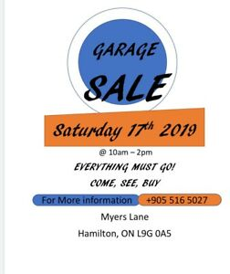 Moving Garage Sale - Myers Lane (phone 9055165027 for time)