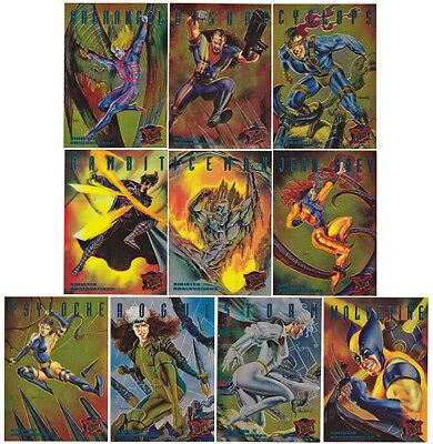 Marvel X-Men Sinister Observations Chrome Chase Card Set 1995 Fleer Ultra #1-10