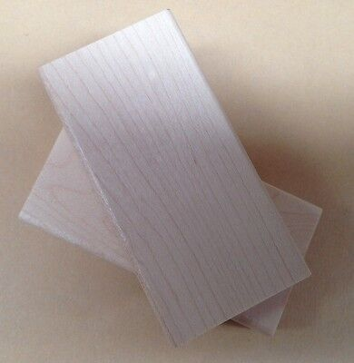 Mounts for Rubber Stamps, Wood Blocks, Maple Wood Mounts for Stamps, 1.5 X 3