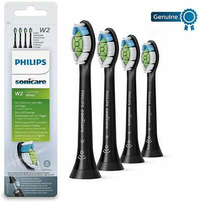 Genuine Philips Sonicare HX6064 DiamondClean Toothbrush Heads (Pack of 4) Black