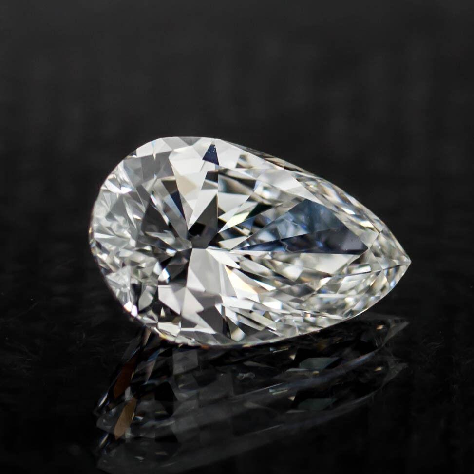 1.10 Carat Loose E / VS2 Pear Shaped Cut Diamond GIA Certified