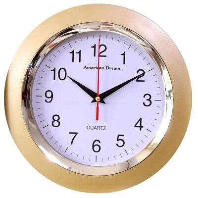 Gold Wall Clock 10 Inch Round - Modern Wall Clock Quiet Non Ticking 10 Wall Clock