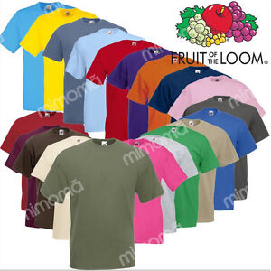 T-SHIRT-MAGLIETTA-MANICA-CORTA-FRUIT-OF-THE-LOOM-FR610360-VALUEWEIGHT-COTONE