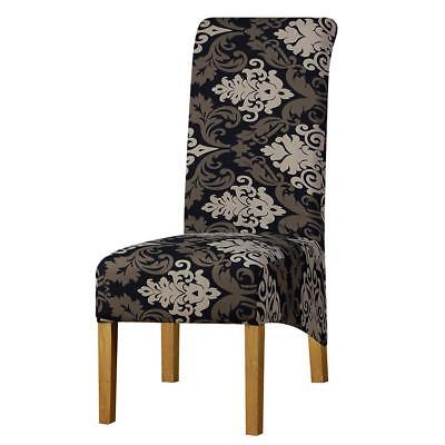 Long Back Chair - Long Back Size Chair Cover Checked Printed Flowers Pattern Wedding Nice Seat New