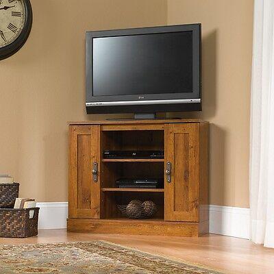 Corner TV Stand Flat Screen Entertainment Center ...