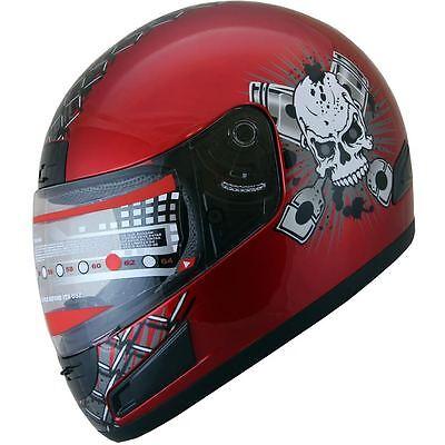 Adult  Full Face Motorcycle Sports Bike Helmet Wine Red