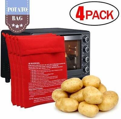 4 pcs Microwave Potato Corn Bread Tortillas Cooker Baked Bag Washable Reusable