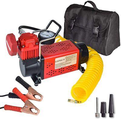 portable 12v air compressor pump 150psi red