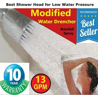 Best Shower Head for Low Water Pressure  >  Modified 13 GPM Rain Water