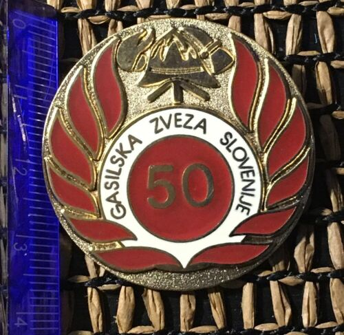Slovenia firefighting badge fireman firefighter Slovenia