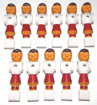 Red Round Foot Foosball Men Players -Tournament Soccer & Others - Set of 11  for sale  Madisonville