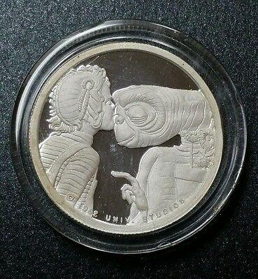 1982 ET 1/2 Troy Oz .999 Fine Silver Universal Studios Alien Proof Silver Coin