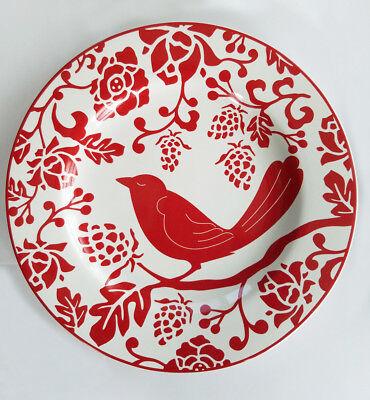Set Of 4 Pier 1 Red Bird Plates