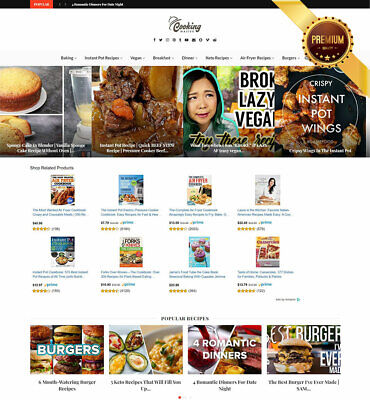 Automated Recipes Website. Killer Responsive Design . Amazon Adsense Cpa