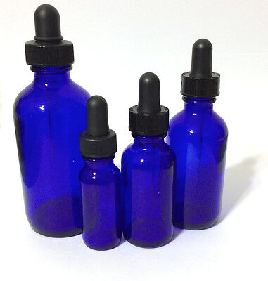 New Boston Round Cobalt Blue Glass Bottle With Dropper 12124 Oz Half Ounce
