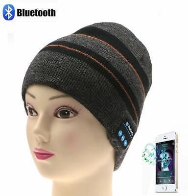 Bluetooth 4.1 Wireless Music Beanie Hat w/ Stereo Headphones and Mic