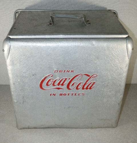 Vintage Aluminum Drink Coca Cola Cooler Action MFG. Co. Inc. USA