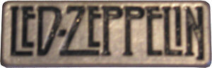 LED ZEPPELIN Heavy Metal Rock Band NAME LOGO Unisex Pewter Metal PENDANT 2