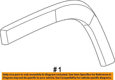 Jeep CHRYSLER OEM Exterior-Rear-Wheel Well Fender Flare Molding Right 1UU88RXFAC