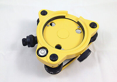 New Three-jaw Topcon Type Yellow Tribrach With Optical Plummet For Total Station