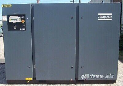 Atlas Copco 86 Hp Oil Free Air Compressor 51 Psig Model Ze75