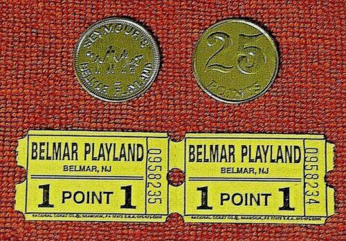 Vintage BELMAR PLAYLAND NJ Arcade Tickets & Tokens Skee Ball Redemption Game
