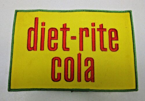 "DIET-RITE COLA UNIFORM PATCH NEW Vintage 5"" x 7.5"" INCHES SODA"