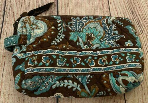 Vera Bradley Cosmetic Bag in Java Blue - Make-up Case - Brown, Blues - Floral (2